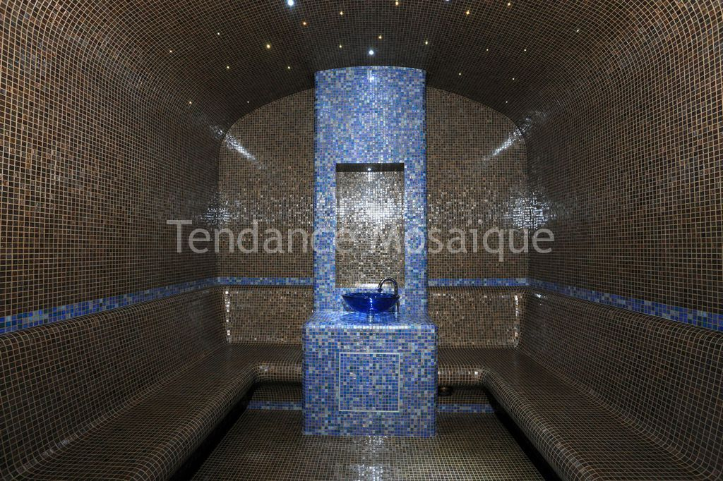 hammam p te de verre bisazza cypro acquario mosaiste. Black Bedroom Furniture Sets. Home Design Ideas
