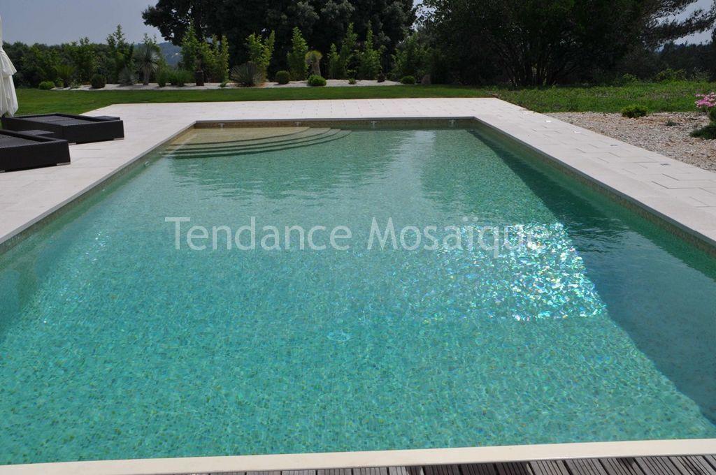 R alisation piscine en p te de verre dolce mosaic sahara - Pate de verre piscine ...