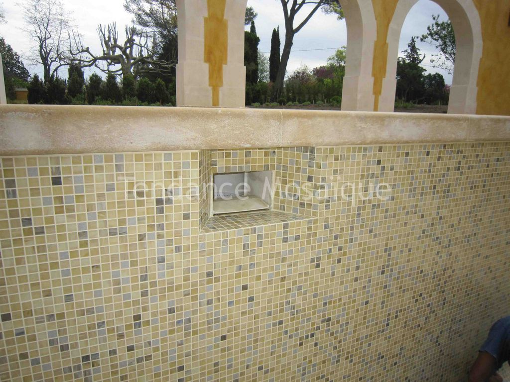 piscine p te de verre dolce mosaic tosca. Black Bedroom Furniture Sets. Home Design Ideas