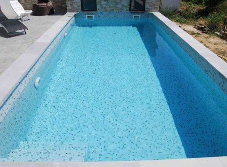 Piscines en p tes de verre dolce mosaic 2x2cm - Carrelage piscine pate de verre ...