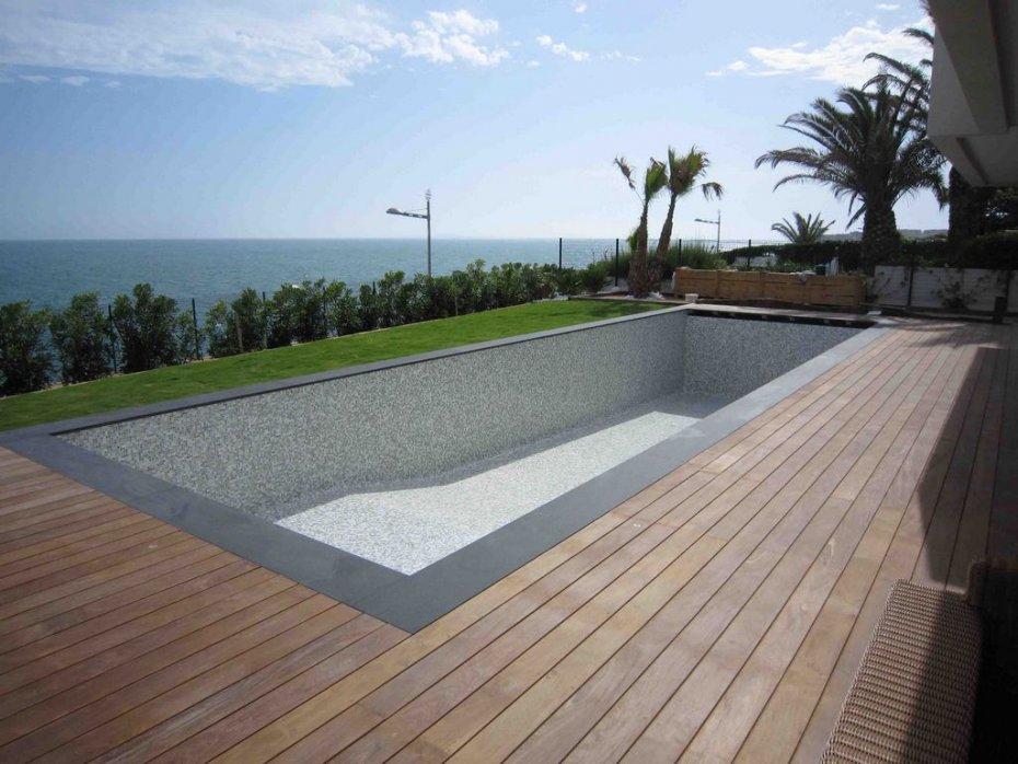 piscine p te de verre gris dolce mosaic stefania. Black Bedroom Furniture Sets. Home Design Ideas