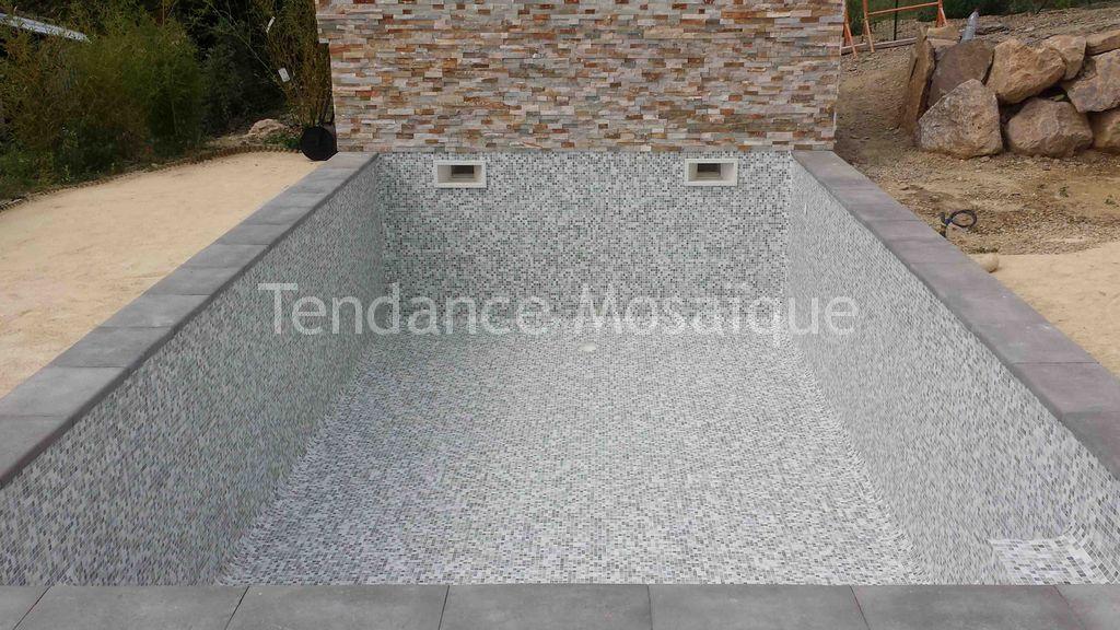 Piscine p te de verre gris dolce mosaic stefania - Carrelage piscine pate de verre ...
