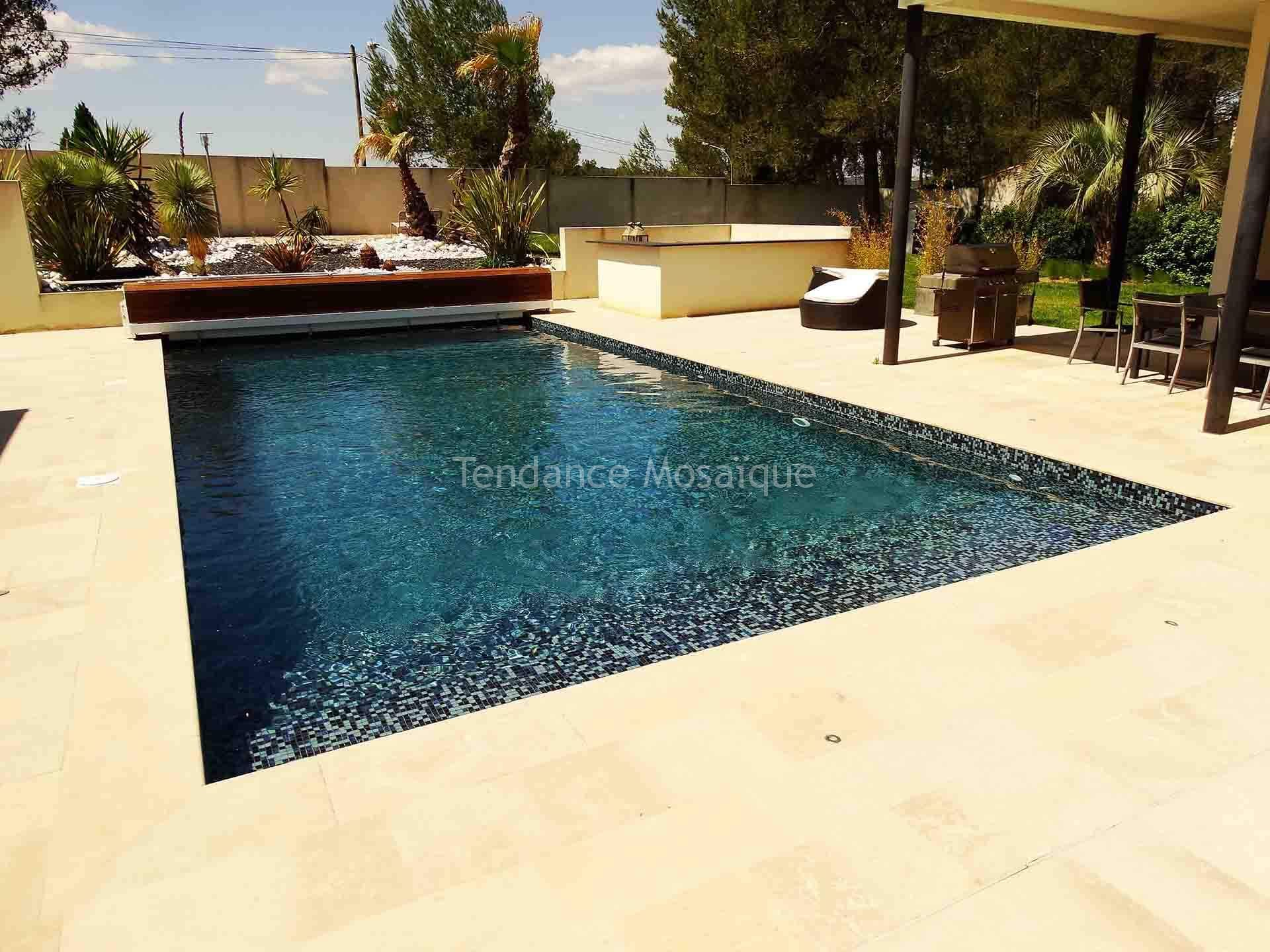 Piscine en p te de verre dolce mosaic r f rence ophelia carrelage piscine - Carrelage piscine pate de verre ...