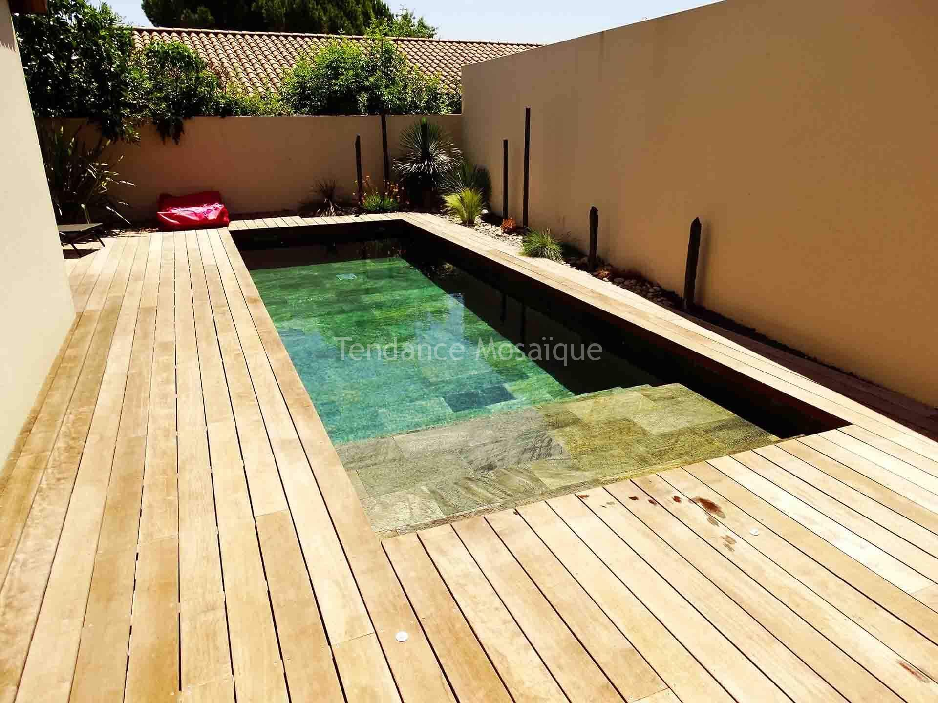 Piscine en pierre naturelle quartzite r f rence silver for Piscine en pierre naturelle