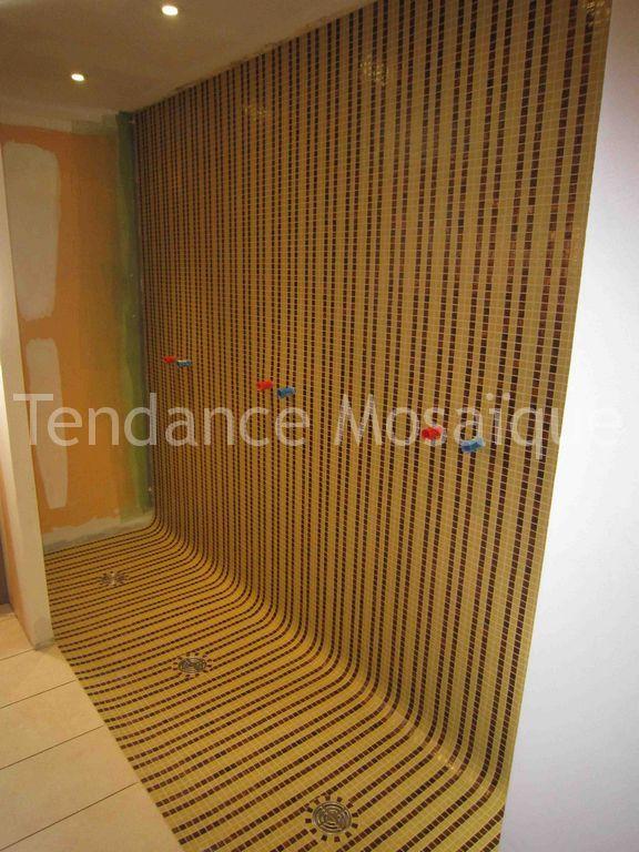 douche l 39 italienne en p te de verre dolce mosaic decor ligne. Black Bedroom Furniture Sets. Home Design Ideas