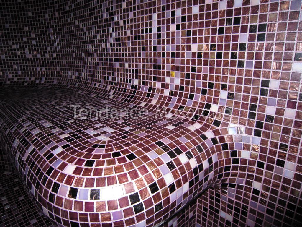 hammam p te de verre dolce mosaic avec m lange personnalis. Black Bedroom Furniture Sets. Home Design Ideas