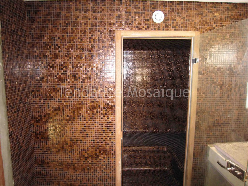 pose p te de verre dolce mosaic pour hammam ambra scura. Black Bedroom Furniture Sets. Home Design Ideas