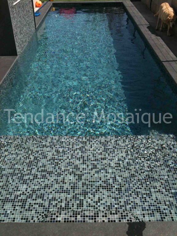 carrelage piscine p te de verre dolce mosaic perla nera. Black Bedroom Furniture Sets. Home Design Ideas