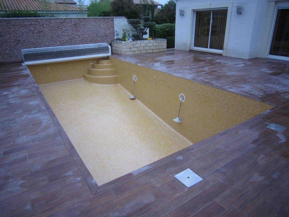 Mosaique p te de verre orange pour piscine - Pate de verre piscine ...