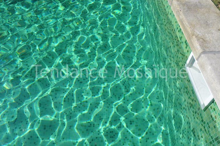 Piscine p te de verre dolce mosaic verde mosaique vert - Pate de verre piscine ...