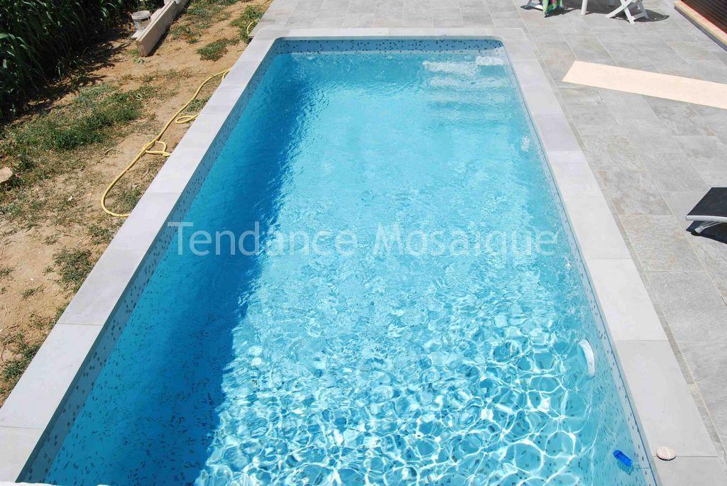 Piscine p te de verre dolce mosaic mosaiques gris m lang s - Pate de verre piscine ...