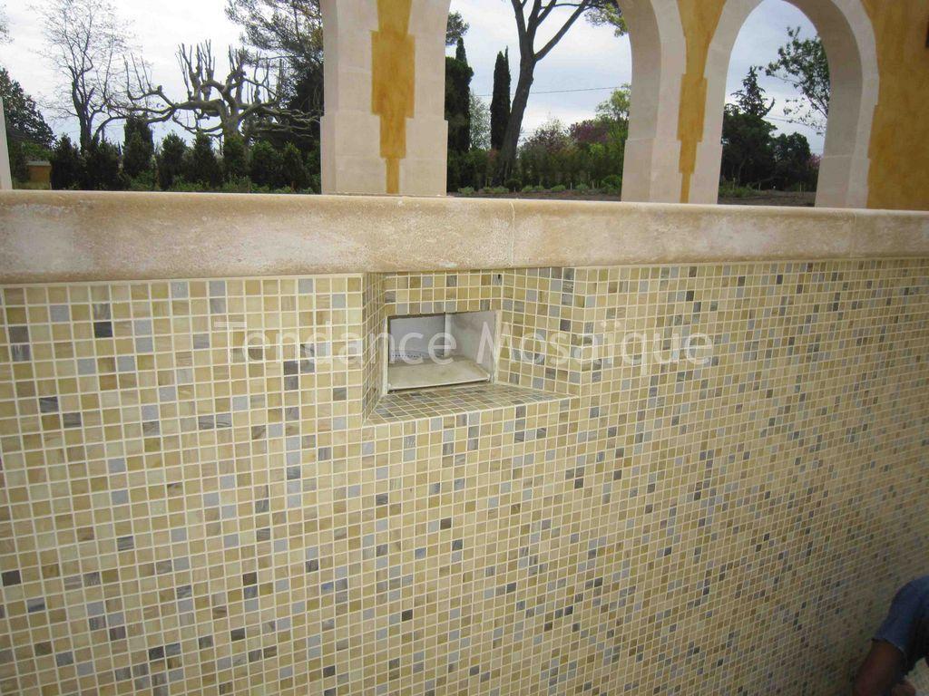 Piscine Pu00e2te de Verre Dolce Mosaic Tosca