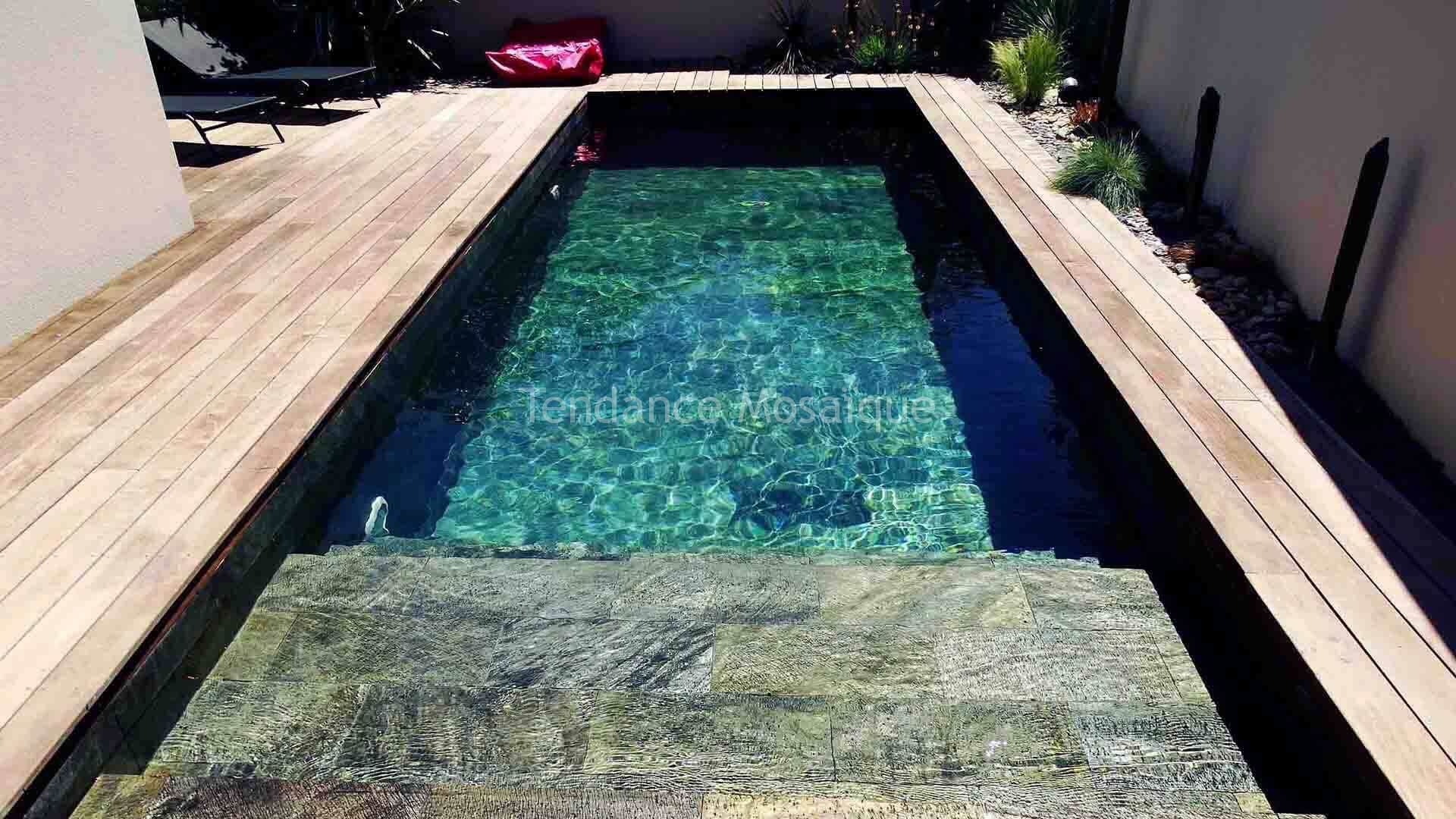 piscine en pierre naturelle quartzite r f rence silver dream carrelage piscine. Black Bedroom Furniture Sets. Home Design Ideas